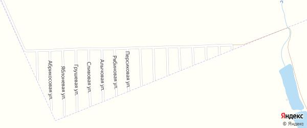 Малиновая улица на карте садового некоммерческого товарищества Урожая с номерами домов