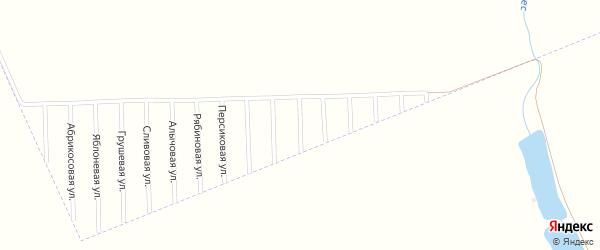 Клубничная улица на карте садового некоммерческого товарищества Урожая с номерами домов