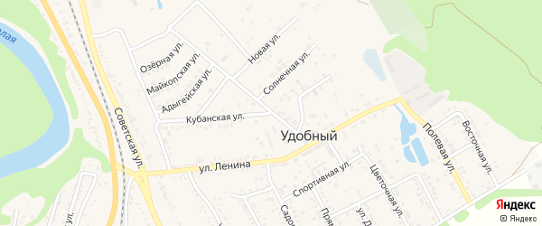Звездная улица на карте Удобного поселка с номерами домов