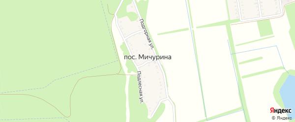 Переулок Мичурина на карте Майкопа с номерами домов