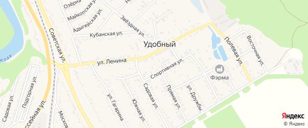 Дорога А/Д Подъезд к п. Удобный на карте Удобного поселка с номерами домов