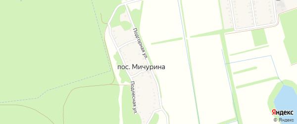 Подгорная улица на карте поселка Мичурина с номерами домов