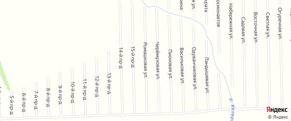 Ромашковая улица на карте садового некоммерческого товарищества Мебельщика с номерами домов