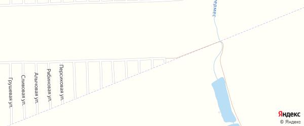 Сиреневая улица на карте садового некоммерческого товарищества Урожая с номерами домов