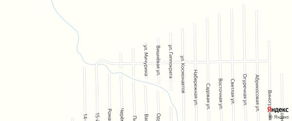 Улица Мичурина на карте садового некоммерческого товарищества Медик (Келермесское с/п) с номерами домов