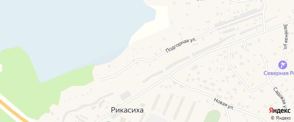 Подгорная улица на карте деревни Рикасихи с номерами домов