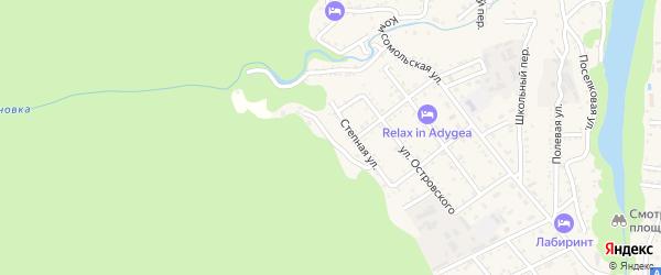 Подгорный переулок на карте Каменномостского поселка с номерами домов