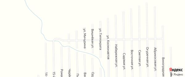 Вишневая улица на карте садового некоммерческого товарищества Сахарника с номерами домов