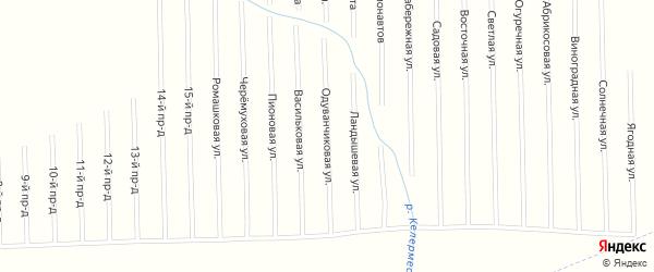 Одуванчиковая улица на карте садового некоммерческого товарищества Мебельщика с номерами домов