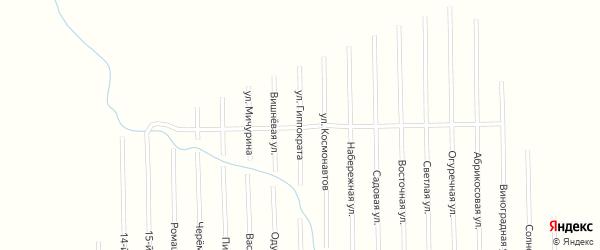Улица Гиппократа на карте садового некоммерческого товарищества Медик (Келермесское с/п) с номерами домов