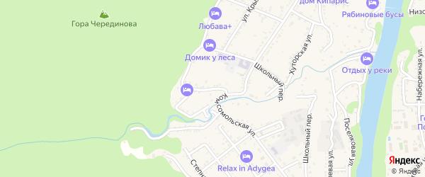 Западная улица на карте Каменномостского поселка с номерами домов