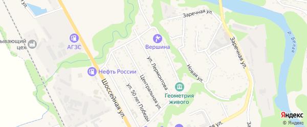 Улица Лермонтова на карте Тульского поселка с номерами домов