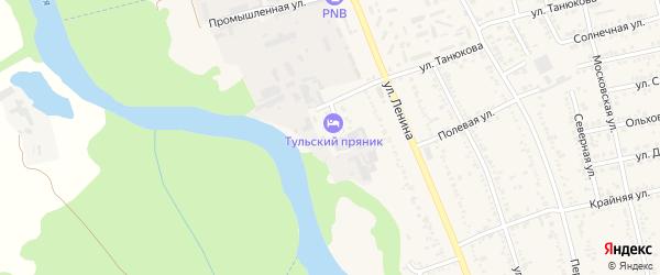 Строительный переулок на карте Тульского поселка с номерами домов