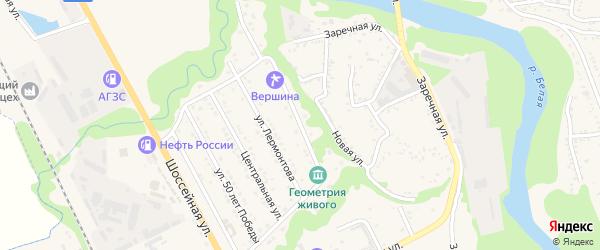Кольцевая улица на карте Тульского поселка с номерами домов