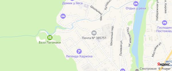 Подгорная улица на карте Каменномостского поселка с номерами домов