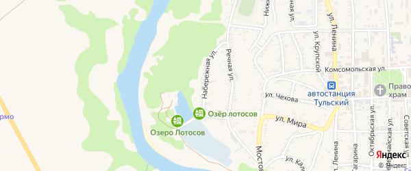 Набережная улица на карте Тульского поселка с номерами домов