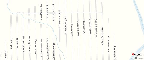 Садовая улица на карте садового некоммерческого товарищества Медик (Келермесское с/п) с номерами домов
