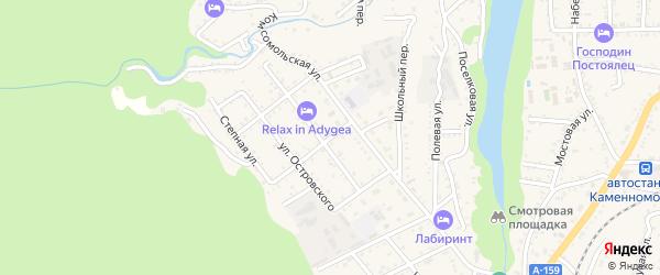 Улица Жуковского на карте Каменномостского поселка с номерами домов
