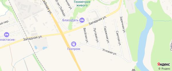 Веселая улица на карте Тульского поселка с номерами домов