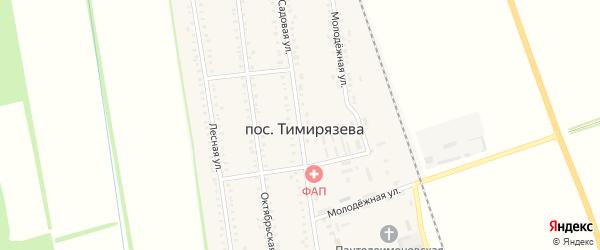 Садовая улица на карте садового некоммерческого товарищества Авиатора с номерами домов