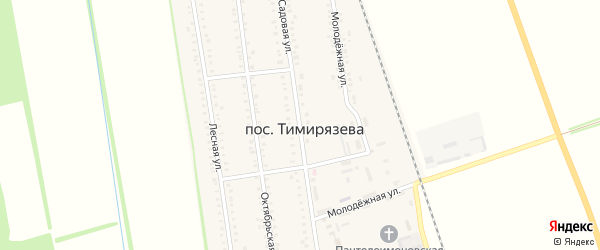 Садовая улица на карте поселка Тимирязева с номерами домов