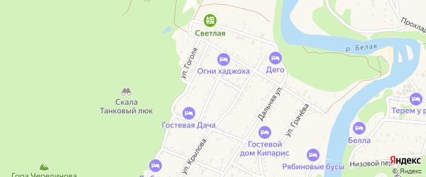 Улица Лермонтова на карте Каменномостского поселка с номерами домов