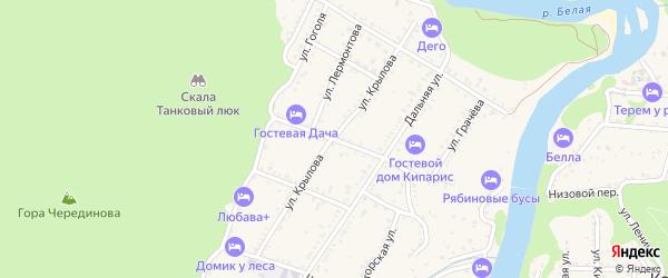 Улица Крылова на карте Каменномостского поселка с номерами домов