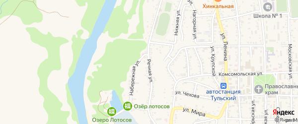 Речная улица на карте Тульского поселка с номерами домов
