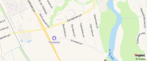 Луговая улица на карте Тульского поселка с номерами домов