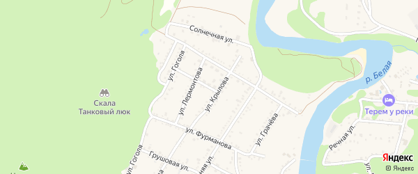 Улица Чапаева на карте Каменномостского поселка с номерами домов