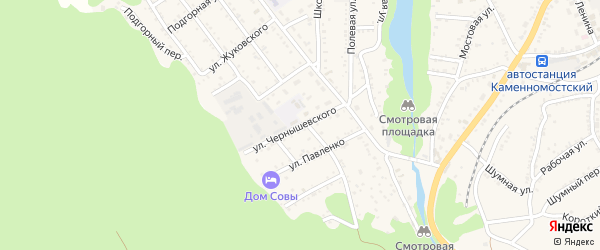 Улица Чернышевского на карте Каменномостского поселка с номерами домов