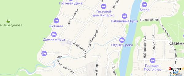 Хуторская улица на карте Каменномостского поселка с номерами домов