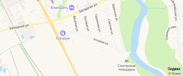 Угловая улица на карте Тульского поселка с номерами домов