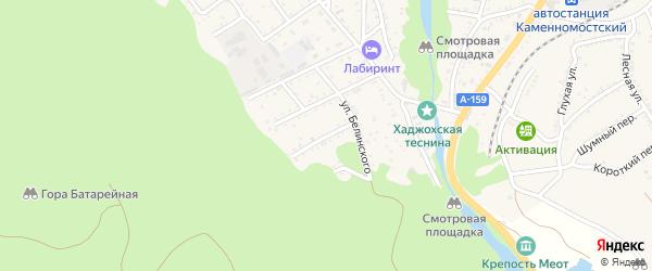 Батарейная улица на карте Каменномостского поселка с номерами домов