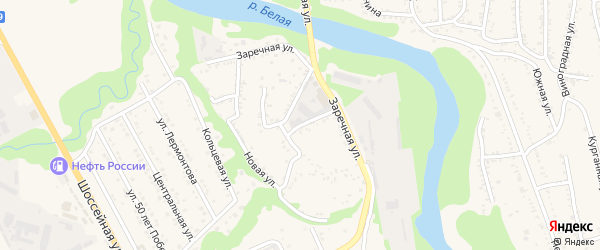 Заводская улица на карте Тульского поселка с номерами домов