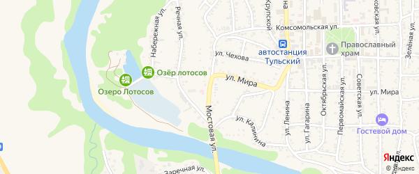 Мостовая улица на карте Тульского поселка с номерами домов