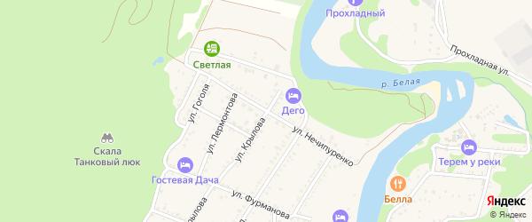 Улица Нечипуренко на карте Каменномостского поселка с номерами домов
