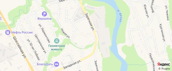 Заречная улица на карте Тульского поселка с номерами домов