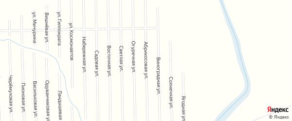 Абрикосовая улица на карте садового некоммерческого товарищества Урожая с номерами домов