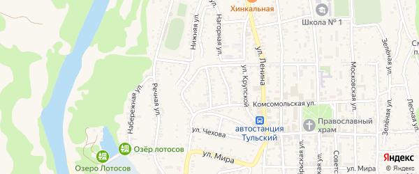 Улица Д.Бедного на карте Тульского поселка с номерами домов