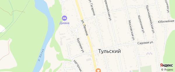 Улица Ленина на карте Тульского поселка с номерами домов