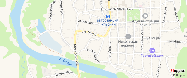 Родниковая улица на карте Тульского поселка с номерами домов