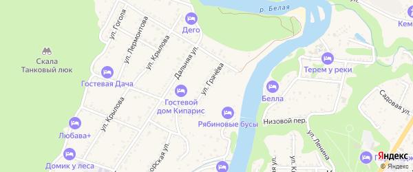 Улица Грачева на карте Каменномостского поселка с номерами домов