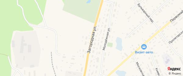 Загородная улица на карте Няндомы с номерами домов