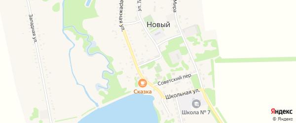 Почтовый переулок на карте Нового поселка с номерами домов