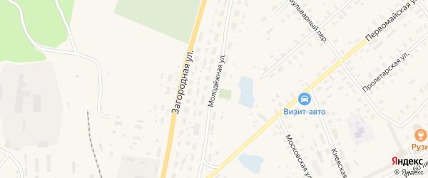 Молодежная улица на карте Няндомы с номерами домов