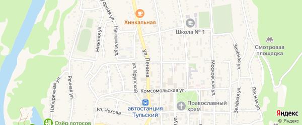 Революционная улица на карте Тульского поселка с номерами домов