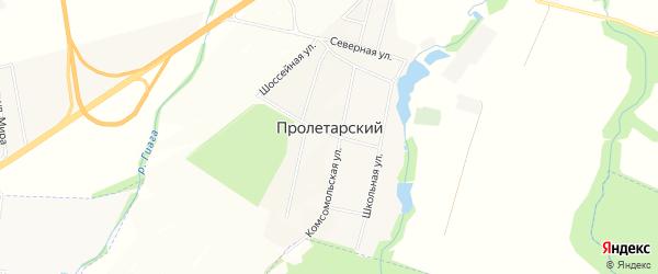 Карта Пролетарского хутора в Адыгее с улицами и номерами домов