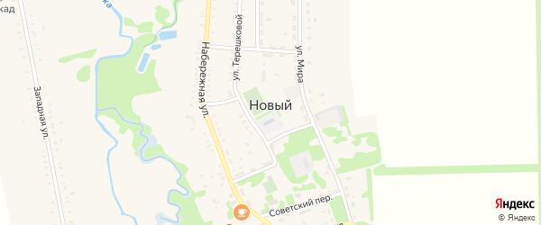 Полевая улица на карте Нового поселка с номерами домов