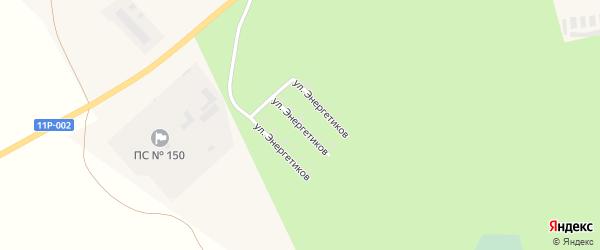 Улица Энергетиков на карте Няндомы с номерами домов